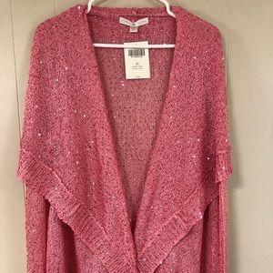 Boston Proper Womens Pink Cardigan XL